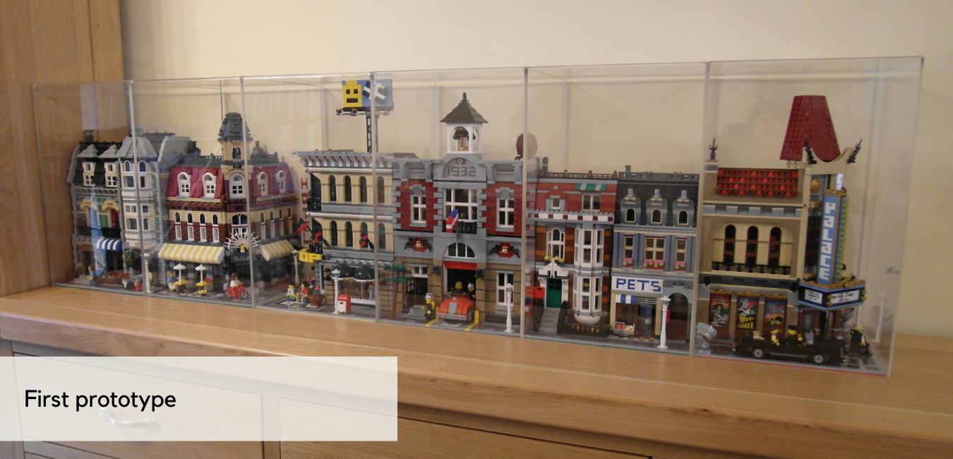 LEGO Display Cases - First prototype